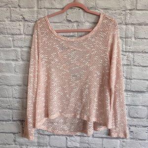 BETHANY MOTA Open Back Pink Sweater